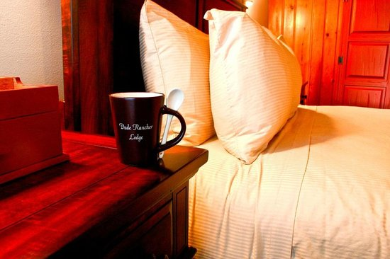Dude Rancher Lodge: Enjoy a great cup of Dude Rancher Coffee in your Room!