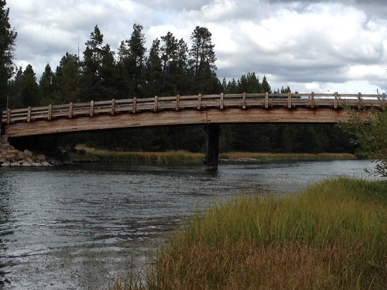 Sunriver Resort : Just one of the many beautiful sites on the 18 mile bike path at Sunriver, Oregon