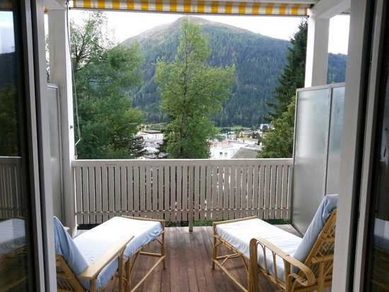 Davos Youth Hostel: View from my bedroom