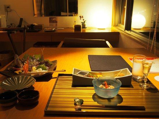 Hotel Umine : 夕食