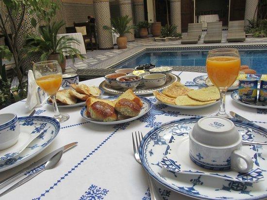 Riad Salam Fes : Le Petit Déjeuner