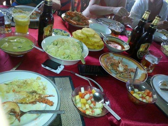 Red Lobster Tours Spa & Restaurant: Uczta :-)