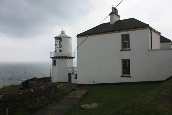 Blackhead Lightkeepers' Houses: Cottages from outside,  beside Lighthouse.