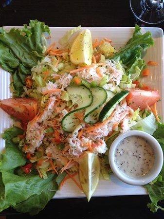 Restaurant Poissonnerie Escoumins: salade de crabe