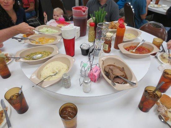 Buckner's Family Restaurant : Lazy Susan Loaded Down