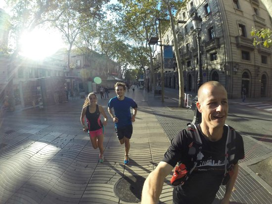 Running Tours Barcelona: One of the pictures from the GoPro