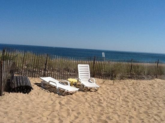 Shoreline Oceanfront Rooms and Suites: the view from the patio!