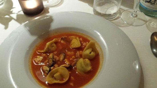 La Galleria di Sopra : Tortelli in zuppa di pesce