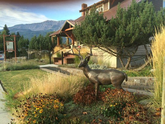 Bronze Antler Bed & Breakfast: The Bronze deer with The Bronze Antler behind it