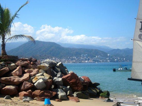 Villa del Palmar Beach Resort & Spa: The view from the beach