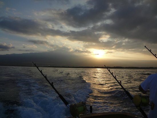 Humdinger Sportfishing: Sunrise over the fishing lines KONA