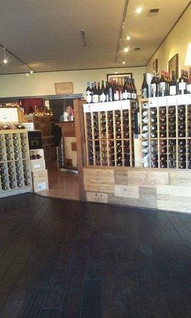Madeline's Restaurant: surrounded by wonder wine racks full of great gems of wine