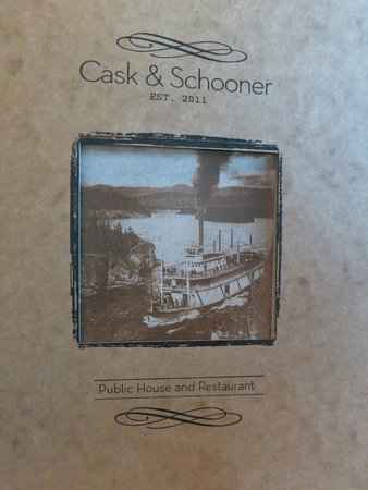 Cask and Schooner Public House & Restaurant: well done menu design