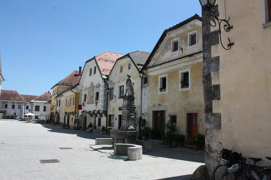 Radovljica Old Town: One side of the main street