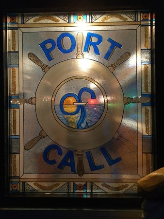 Port Of Call Restaurant: Port of Call sign