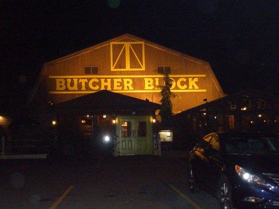 front of building picture of butcher block restaurant