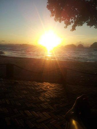 Tup Kaek Sunset Beach Resort : Por do sol