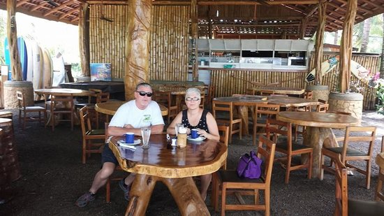 Tiki Hut Bar and Restaurant : This is us, eating in the Tiki Hut