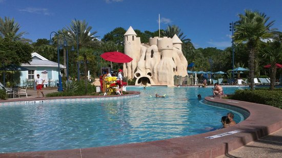 Disney's Old Key West Resort: View of pool and water slide castle