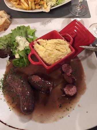 Le Bec Fin Hotel Restaurant: diots polenta