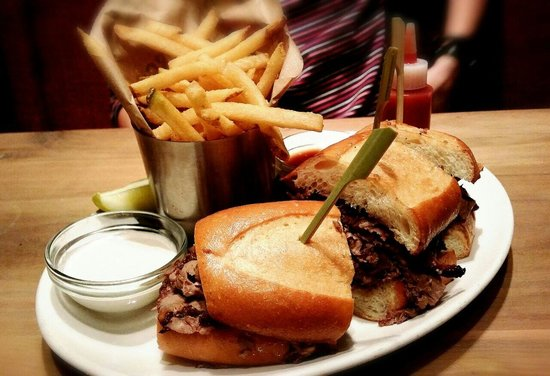 Del Frisco's Grille: Shaved Steak Sandwich. Good but not great.