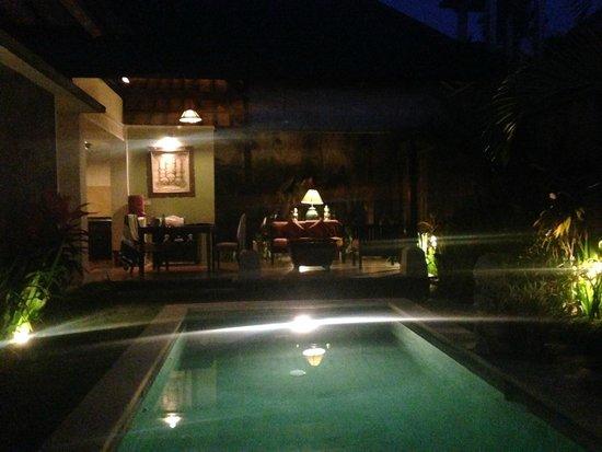 The Sanyas Suite Seminyak: Pool by night