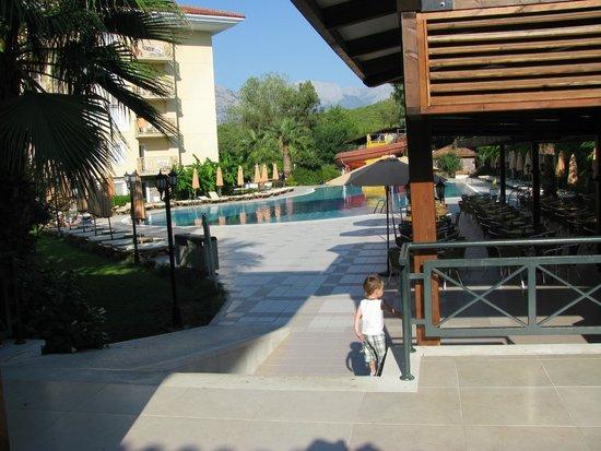 Akka Claros Hotel : Вид с веранды