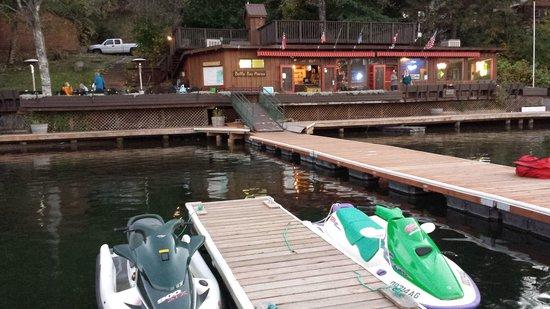 Bottle Bay Resort: a dock parking lot is always nice