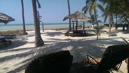 Kilwa Beach Lodge: View from the communal eating area