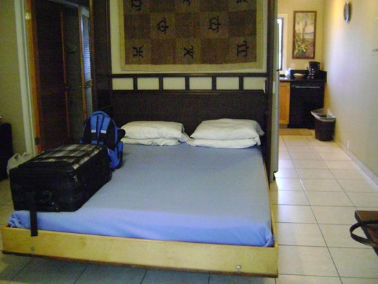 Castle Kona Bali Kai: Fold down bed with hard mattress and foam topper