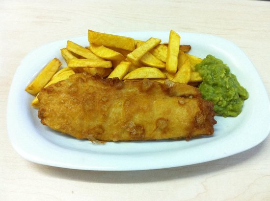 Our Fish & Chips with MUSHY PEAS