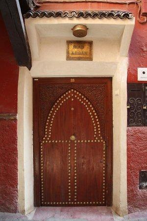 Riad Argan : The door to the Riad