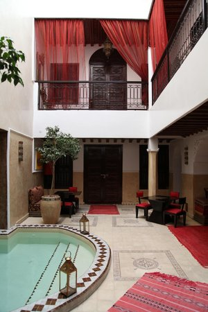 Riad Argan : The courtyard and door to our suite
