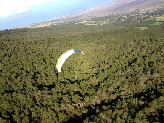 Proflyght Paragliding: View of upcountry Maui Hawaii