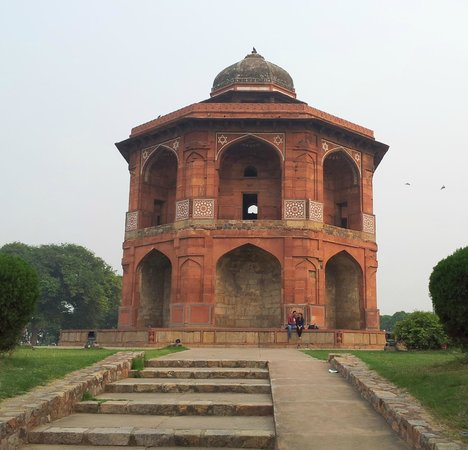 Purana Qila: Old Liberary, falling from which King Humayun died