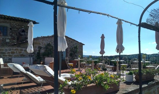 Terrazza - Picture of Le Terrazze del Chianti Bed & Breakfast, San ...