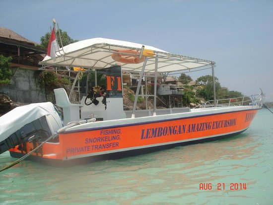 ‪نوسا ليمبونجان, إندونيسيا: Newman F1 ,the Lembongan Amazing excursions boat‬