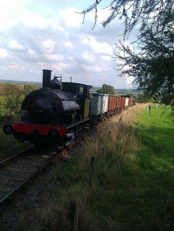 Foxfield Railway : On Foxfield Bank - 1 in 19 incline.