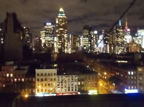 Skyline Hotel : Skyline view from hotel at night