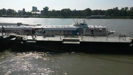 Vienna to Bratislava Hydrofoil: Pier in Bratislava