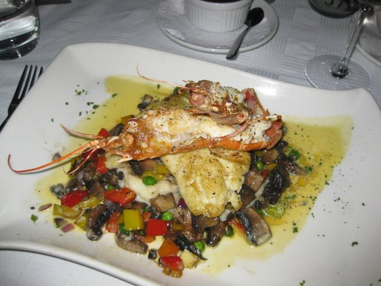 Baia: Pan-fried linefish & Langoustines