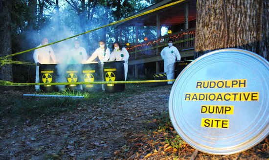 Lake Rudolph Campground & RV Resort: Radioactive Rudolph Cabin Decorations during Halloween Weekends