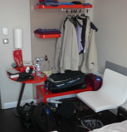 Ibis Styles Dijon Central: The entire storage/surface area available
