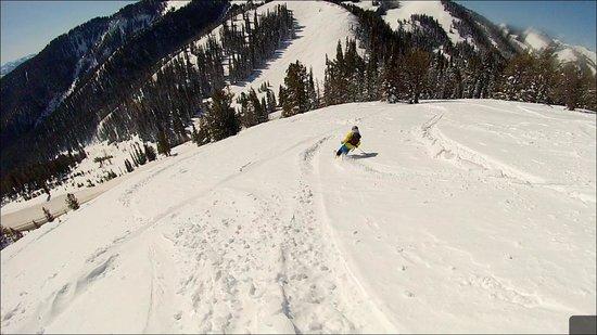 Grand Targhee Resort : Skiing Teton Pass, not far from Targhee