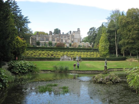 Thornbridge Hall Gardens: View from lawns