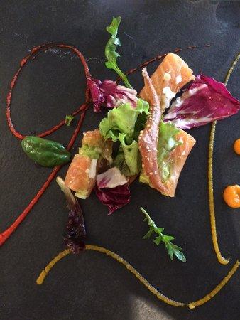 Restaurant du Schild : Marinierter Lachs mit Cuacamole