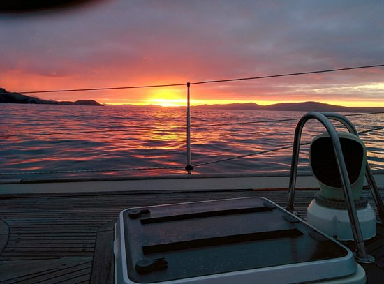 Carbery Sailing: Watching the sun rise over Bantry Bay