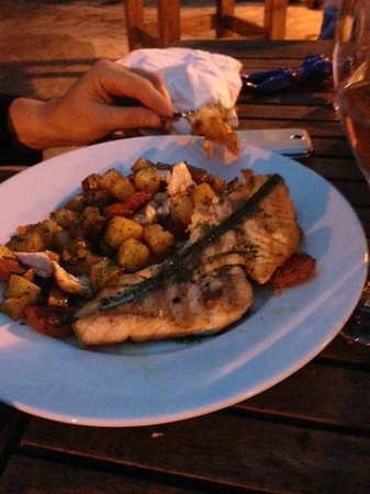 La Cloche at The Lion: salmon and chorizo