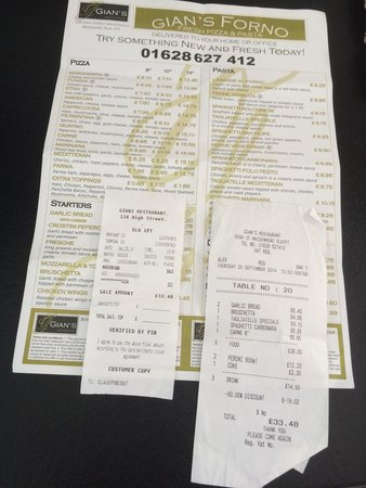 Gian's Restaurant: We had a Taste Card .. But this Restaurant  is Well Worth Paying the Full Price ...,