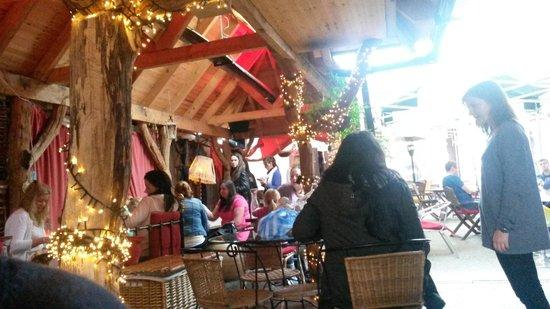 The Dog House Blues Tea Room: la terrasse
